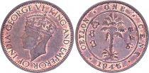Ceylan 1 Cent, Georges VI - 1945