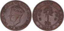 Ceylan 1 cent Georges VI - 1942-1945