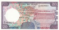 Ceylan 20 Rupees  Pierre de Lune - Temple - 1990 - P.97c - Neuf
