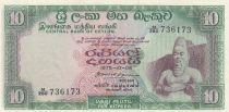Ceylon 10 Rupees King Parakkrama - 1975