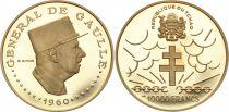 Chad 10000 CFA Charles de Gaulle - Gold 1970