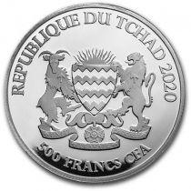 Chad 5000 Francs Buffalo - Oz Silver 2020