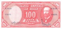 Chile 10 Centesimos/100 Pesos Arturo Prat - Serial K-19-101 - 1960