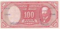 Chile 100 Pesos Arturo Prat - Serial K - 1960