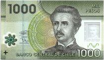 Chile 1000 Pesos I. Carrera Pinto -  2018 Polymer - UNC - P.161h