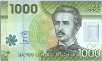 Chile 1000 Pesos I. Carrera Pinto -  2019 Polymer - UNC -  P.161j