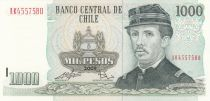 Chile 1000 Pesos I. Carrera Pinto - Monument to Chilean Heroes - 2009