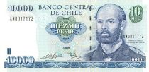 Chile 10000 Pesos Cpt. de Fragata Don Arturo Prat Chacon