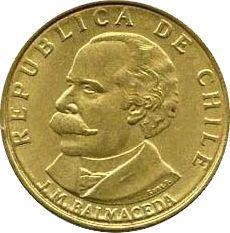 Chile 20 Centesimos J. M. Balmaceda