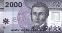 Chile 2000 Pesos Manuel Rodriguez - National parc of Nalcas - 2012 Polymer - UNC - P.162b