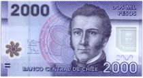 Chile 2000 Pesos Manuel Rodriguez - National parc of Nalcas - 2013 (2016 ) Serial FD Polymer