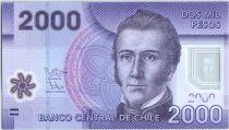 Chile 2000 Pesos Manuel Rodriguez - National parc of Nalcas - 2014 Polymer - UNC - P.162d