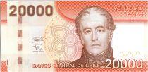 Chile 20000 Pesos Don Andres Bello - 2020 - UNC- P.165k