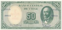 Chile 50 Pesos Anibal Pinto - 1960