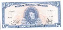 Chili 1/2 Escudo 1962-1975 - Bernardo O\'Higgins, Explorateurs à cheval - G 14