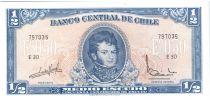 Chili 1/2 Escudo 1970 - Bernardo O\'Higgins, Explorateurs à cheval - E30