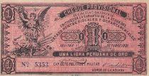 Chili 1 Libra peruana de oro 1921 - Cheque provisional