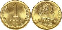 Chili 1 Peso 1990 - Bernardo O´Higgins