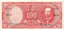 Chili 10 Centesimos/100 Pesos Arturo Prat - Série E-16-101 - 1960