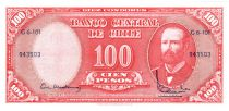 Chili 10 Centesimos/100 Pesos Arturo Prat - Série G6-101 - 1960