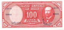 Chili 10 Centesimos/100 Pesos Arturo Prat - Série J-25-101 - 1960