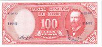 Chili 10 Centesimos/100 Pesos Arturo Prat - Série K-20-101 - 1960
