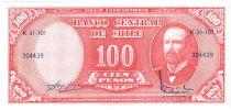 Chili 10 Centesimos/100 Pesos Arturo Prat - Série K-31-101 - 1960