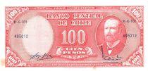 Chili 10 Centesimos/100 Pesos Arturo Prat - Série K-6-101 - 1960
