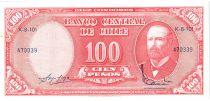 Chili 10 Centesimos/100 Pesos Arturo Prat - Série K-8-101 - 1960