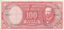 Chili 10 Centesimos de Escudo 1961 / 100 Pesos - Arturo Prat