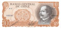 Chili 10 Escudos 1967-1976 - J.M. Balmaceda, cavalerie - A.19