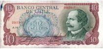 Chili 10 Escudos 1970 - J.M. Balmaceda, cavalerie - A.14