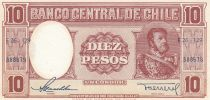 Chili 10 Pesos 1958 - M. Bulmes