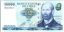 Chili 10000 Pesos Capt Arturo Prat Chacon - 2001