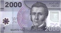 Chili 2000 Pesos Manuel Rodriguez - Réserve de Nalcas - 2012 Polymer - Neuf