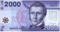 Chili 2000 Pesos Manuel Rodriguez - Réserve de Nalcas - 2013 (2016) Série FD Polymer