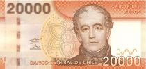 Chili 20000 Pesos Don Andres Bello