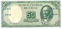Chili 5 Centesimos de Escudo 1961 / 50 Pesos - Anibal Pinto - Serie C