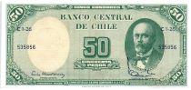 Chili 5 Centesimos de Escudo 1961 / 50 Pesos - Anibal Pinto - Serie C1-26