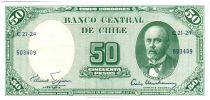 Chili 5 Centesimos de Escudo 1961 / 50 Pesos - Anibal Pinto - Serie C21-24