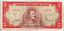 Chili 5 Escudos 1964 - Manuel Bulnes, Bataille de Rancagua - C.24