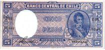 Chili 5 Pesos (1/2 Condor) - 1947-1958 - B. O\'Higgins - E 83