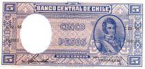 Chili 5 Pesos (1/2 Condor) - 1958-1959 - B. O\'Higgins - E 83