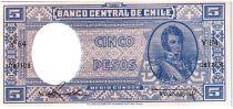 Chili 5 Pesos (1/2 Condor) - 1958-59 - B. O\'Higgins - Y 84