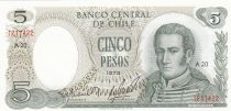 Chili 5 Pesos J.M. Carrera - 1975 - P.149a - Neuf
