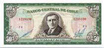 Chili 50 Escudos - Arturo Alessandri - 1962 - 1975 - Série F.8