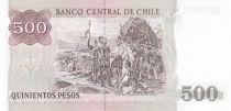 Chili 500 Pesos -  Pedro de Valdivia - Foundation de Santiago - 2000 - Neuf - P.53