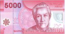 Chili 5000 Pesos Gabriela Mistral - Prix Nobel 1945 - 2013