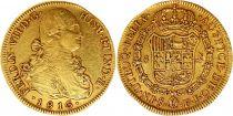 Chili 8 Escudos Ferdinand VII Buste de Charles IV - 1816 So FJ - Or