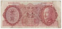 China 10 Cents, Port. CKS - Pagoda - 1946